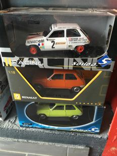 Solido - Scale 1/18 - Lot of 3 Renault 5