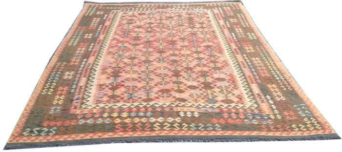 DOUBLE FACE NEW Afghan Oriental Hand Woven Veg Dyes Kelim Large Area Rug 362 cm x 252 cm