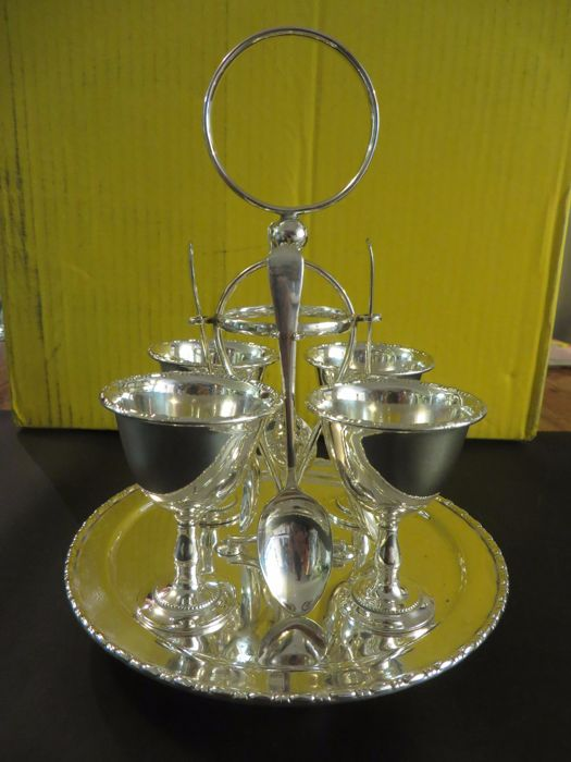 Egg set. Silver Plated