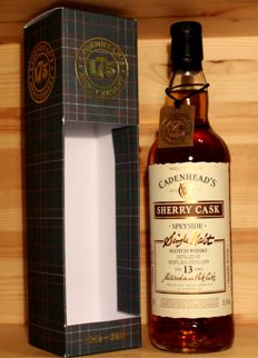 Mortlach Sherry cask, 2003, aged 13 years, 70cl, 55,1%vol. Cadenhead's, Anniversary bottling