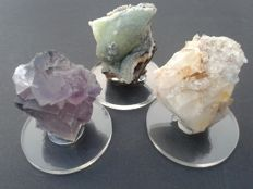 Excellent samples of  smithsonite, purple fluorite, Quartz crystals - 450 gr  { 3 }