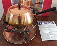 Spring - Copper fondue appliance, Switzerland with original box