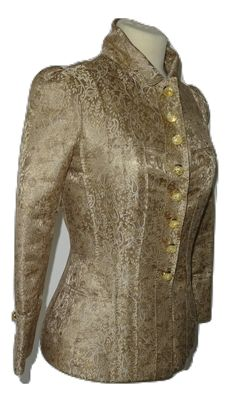 Louis Vuitton - Vintage, very exclusive, gold-coloured brocade jacket