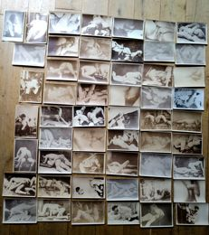 Photo; Lot of 53 pornographic photos - 1940/1950