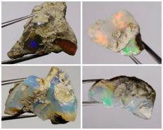 Natural Multicolor Opals - 32 ct.(4)