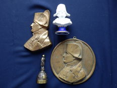 Collection of 4 nice old items of Napoleon