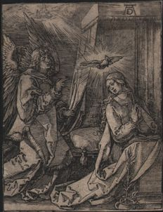 Albrecht Dürer ( 1471 - 1528 ) -  The Annunciation - First text edition - 1511