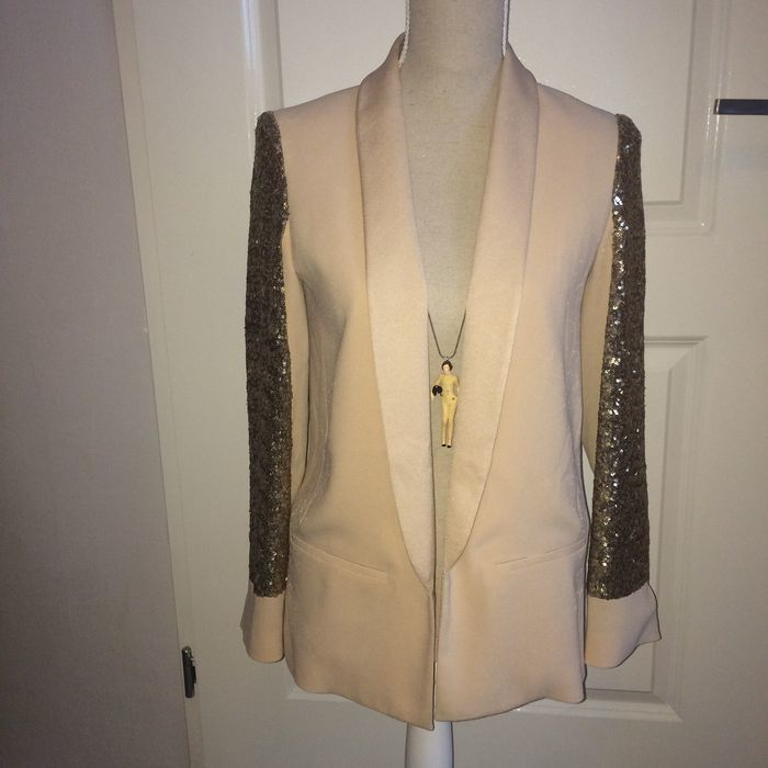 Maje – Chic jacket / sports jacket with sequins on the sleeves