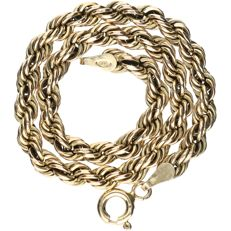 14 kt - Yellow gold rope link bracelet - Length: 19 cm