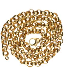 14 kt Yellow gold anchor chain necklace – Length: 56 cm.