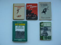WW II; Lot with 5 books about May 1940 in The Netherlands - 1943/1985