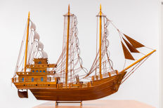 Detailed model of a Chinese ship