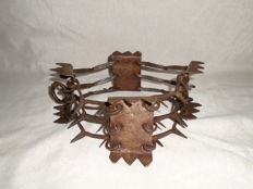 Spiked dog-collar, forging and sheet collar made by hand for sheepdogs - 2nd half of the 20th century