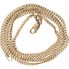 18 kt yellow gold curb link necklace – Length: 48 cm