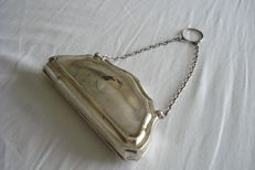 Silver handbag with chain - Birmingham - 1915