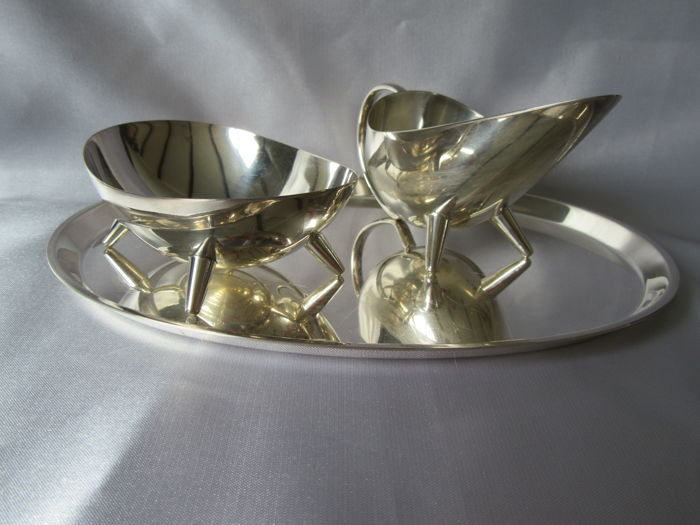 WMF silver plated cream set with tray