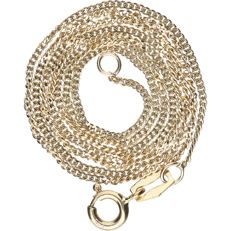 14 kt – Yellow gold curb link necklace – Length: 45 cm