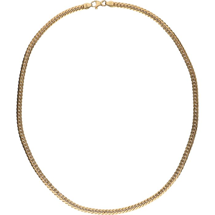 18 kt - Yellow gold, J-link necklace – Length: