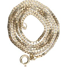 14 kt - yellow gold Venetian link necklace - length: 47 cm