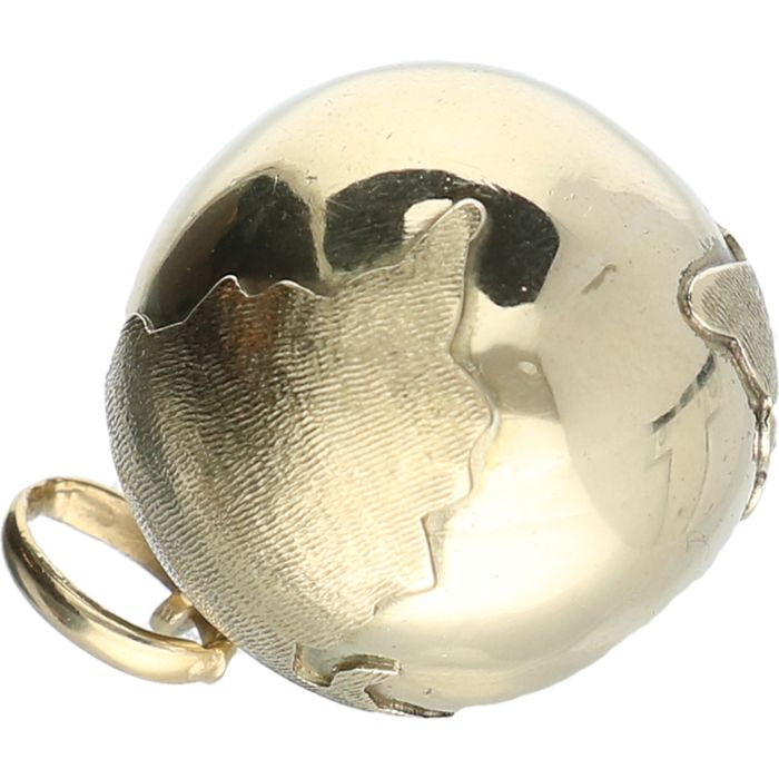 14 kt yellow-gold pendant in the shape of a globe - diameter: 1.8 cm