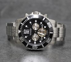 "Calvaneo 1583 ""Command Sea Black Steel"" Automatic Men's Watch New"
