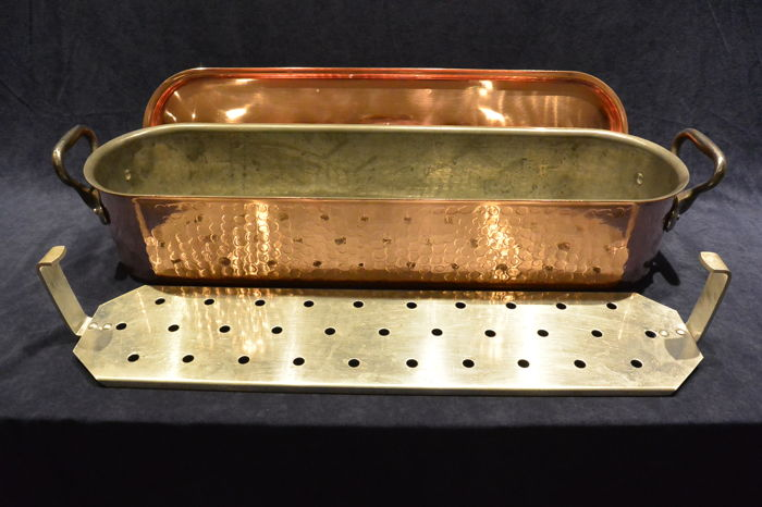 Big red copper steamer with tin