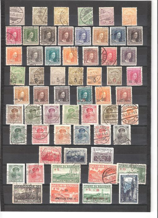 Luxembourg 1907/1940 - Selection of stamps