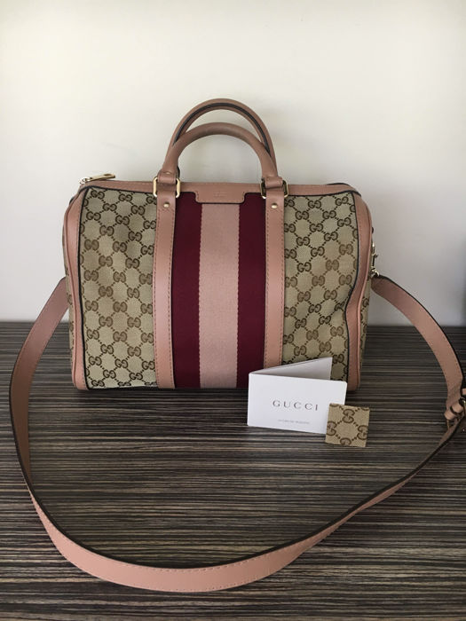 75df2020e5 Gucci – Limited Edition Boston Vintage Web – Handbag/Shoulder bag ...