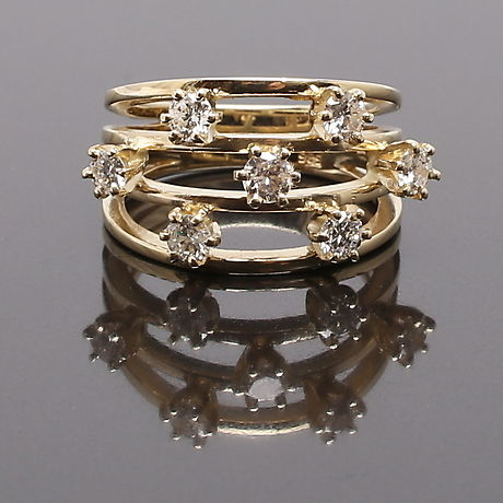 Diamond  ring 1.05 ct - size 17.25 / 54