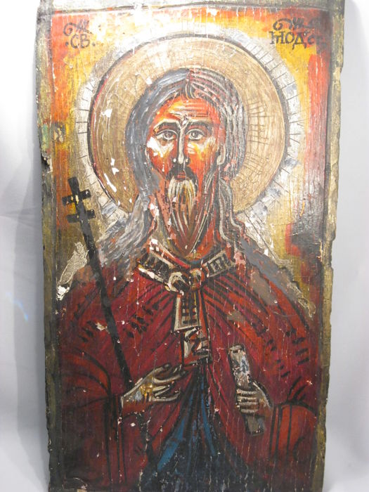 Orthodox icon / panel painted on wood panel - Eastern Europe - 19th century or older