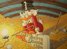 Barks, Carl - Hand-signed silk screen print / serigraph - Scrooge - I may have to spend some of this stuff (1997)