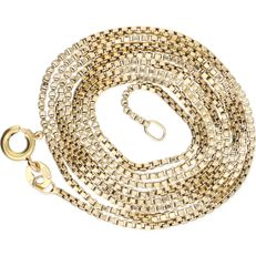 14 kt – Yellow gold Venetian link necklace – Length: 59.5 cm