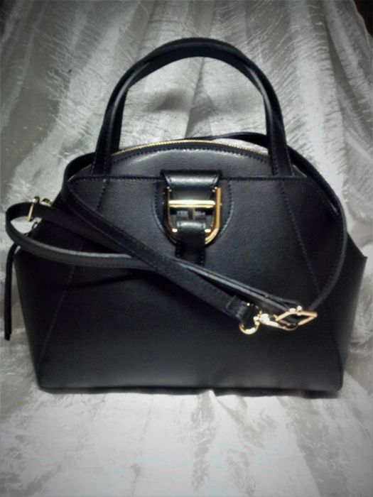 Handbag with adjustable shoulder strap - 100% genuine cowhide - FW - Florence