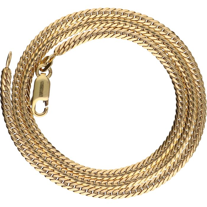 14 kt - Yellow gold, J-link necklace - Length: