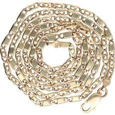 14 kt Yellow gold curb link necklace - Length: 63.5 cm