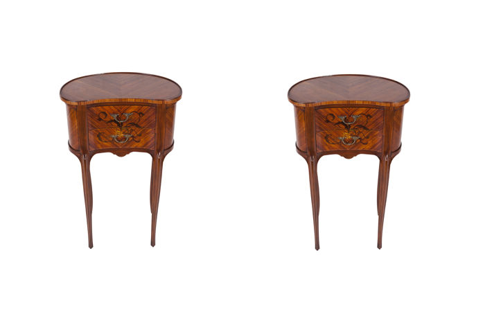 Pair of Louis XV style nightstands - France -early 1900