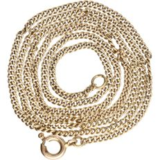 14 kt - Yellow gold curb link necklace - Length: 48.5 cm