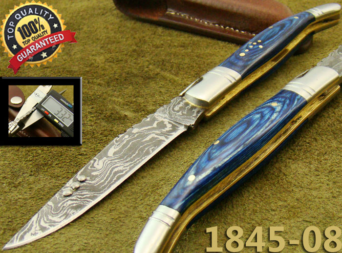 Original Damascus Steel French Laguiole Knife/Hunting Knife Top quality (1845-08-4500