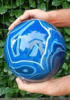 Huge Blue Agate Sphere - Top Quality - 201 mm - 13000 g