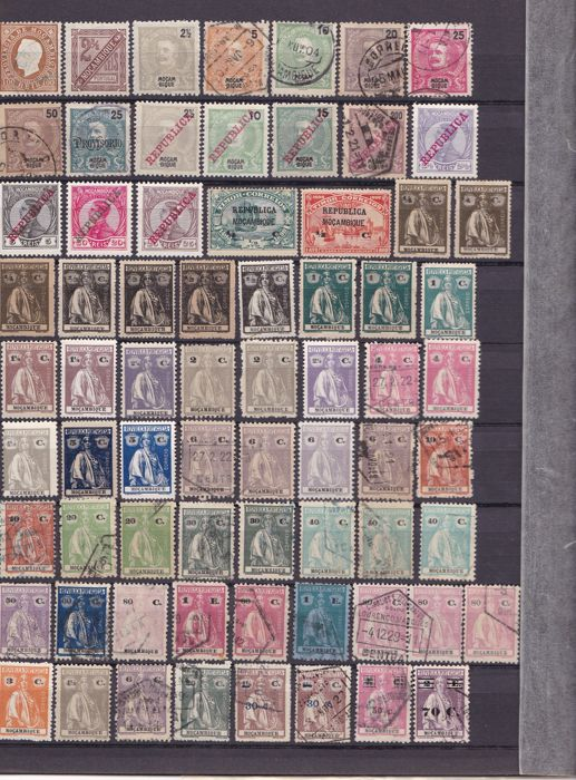 Ex Colonies Oriental Portuguese Africa 1870s/1980s – Collection on stock pages.