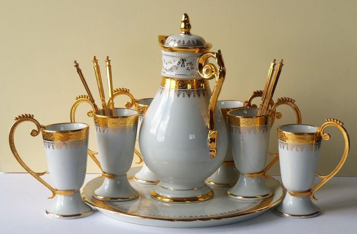 P. Dussault - Porcelain coffee set - Les Decors de Paris