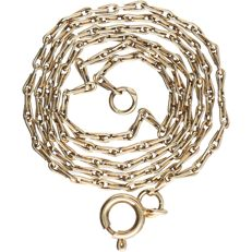 14 kt – Yellow gold anchor chain necklace – Length: 38 cm