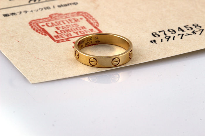 Cartier Love Ring - 18 kt with certificate - size 19 mm