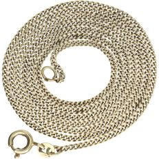 14 kt – Yellow gold curb link necklace – Length: 62 cm