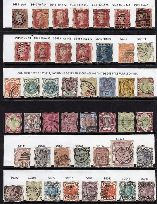 Great Britain, Queen Victoria  - Collection on stock Pages