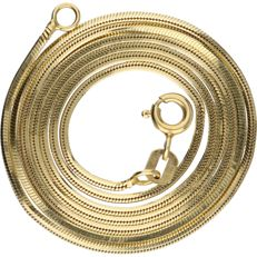 14 kt yellow gold link necklace - length: 46.6 cm