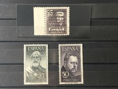 Spain 1951/1953 - Visit of the Caudillo to the Canary Islands, Legazpi and Sorolla - Edifil No. 1090, 1124/1125.