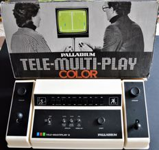 Old game console- Palladium Tele-Multi-Play Color S 825/395 boxed