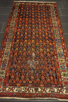 Old Persian carpet, Malayer Hamadan, 130 x 240 cm, natural colours, made in Iran