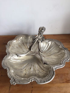 Antique Art Nouveau cookie dish by Christofle - 2nd half of the 19th century - France